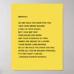 "Empathy Quote Poster<br><div class=""desc"">written and designed by Morgan Harper Nichols</div>"