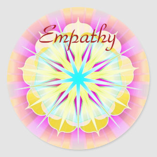 Empatía (pegatina de la virtud) pegatina redonda