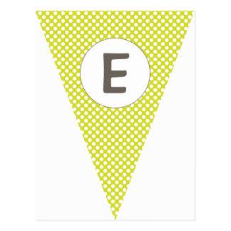 Empavesado adaptable de la bandera de la verde lim tarjeta postal