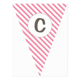 Empavesado adaptable de la bandera de las rosas tarjetas postales