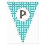 Empavesado adaptable de la bandera del trullo de P Tarjetas Postales