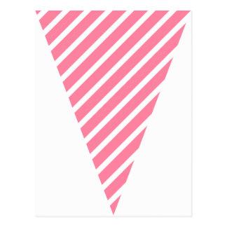 Empavesado colorido de la bandera de las rosas postales