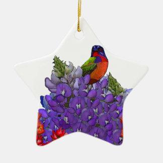 Empavesado pintado en Bluebonnets Ornamentos Para Reyes Magos