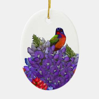 Empavesado pintado en Bluebonnets Ornamento De Reyes Magos
