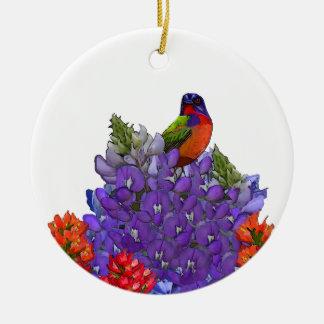 Empavesado pintado en Bluebonnets Ornamento Para Reyes Magos