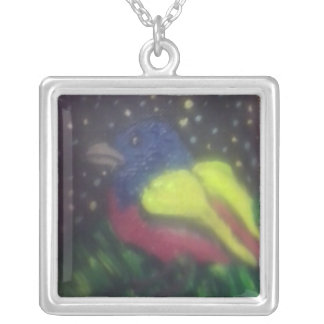 Empavesado pintado en el neckac miniatura de la collar plateado