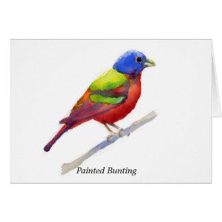 Empavesado pintado tarjeta pequeña