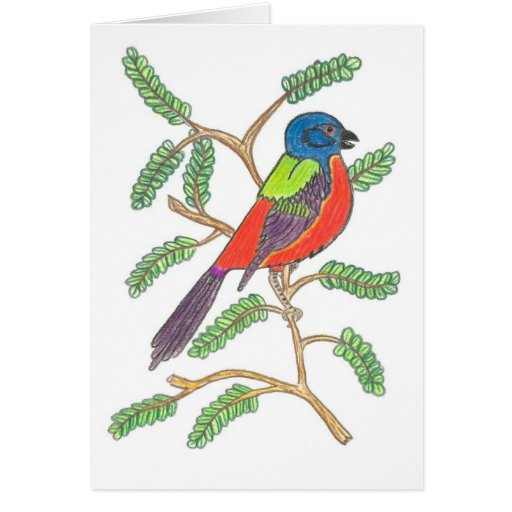 Empavesado pintado tarjeta de felicitación