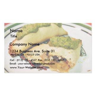 Empenadas Food Dinner Chimchurri Sauce Business Card Templates