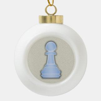 Empeño de cristal azul brillante del ajedrez del a adorno