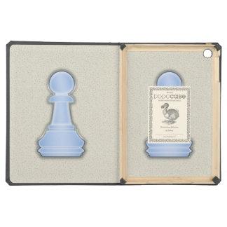 Empeño de cristal azul brillante del ajedrez del a