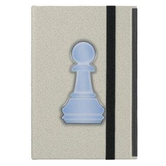 Empeño de cristal azul brillante del ajedrez del a iPad mini protectores