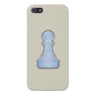 Empeño de cristal azul brillante del ajedrez del a iPhone 5 cárcasas
