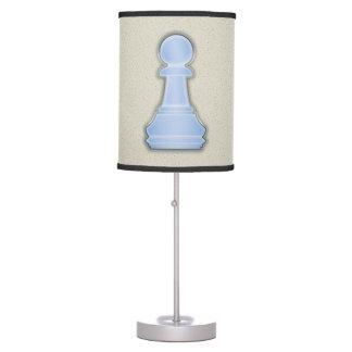 Empeño de cristal azul brillante del ajedrez del a lámpara de mesilla de noche