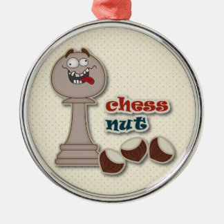 Empeño del ajedrez, nueces del ajedrez y castañas ornamentos de reyes