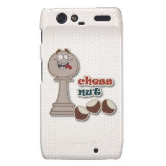Empeño del ajedrez, nueces del ajedrez y castañas motorola droid RAZR carcasa