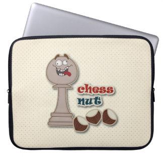 Empeño del ajedrez, nueces del ajedrez y castañas mangas portátiles