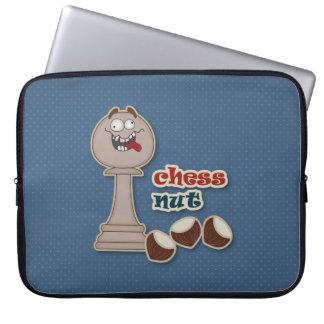 Empeño del ajedrez, nueces del ajedrez y castañas funda portátil