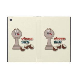 Empeño del ajedrez, nueces del ajedrez y castañas iPad mini protectores