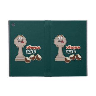 Empeño del ajedrez, nueces del ajedrez y castañas iPad mini funda