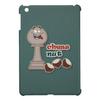 Empeño del ajedrez, nueces del ajedrez y castañas iPad mini fundas