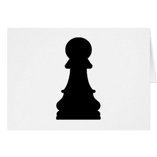 Empeño del ajedrez tarjetas