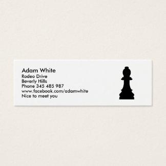 Empeño del ajedrez tarjetas de visita mini