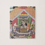 Emperador Akbar (r.1556-1605) entretenido por su f Rompecabeza