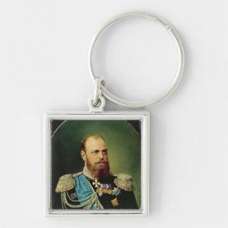 Emperador Alejandro III Llavero Cuadrado Plateado