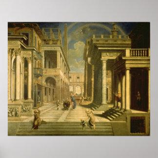 Emperador Augustus y la sibila, 1535 Posters