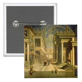 Emperador Augustus y la sibila, 1535 Pin Cuadrado
