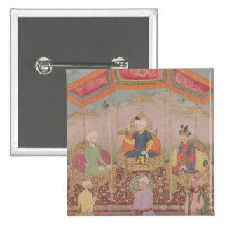 Emperador Babur de Mughal y su hijo, Humayan Pins