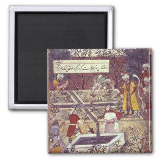 Emperador Babur y su plan del arquitecto Imán Cuadrado