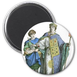 Emperador bizantino imán redondo 5 cm