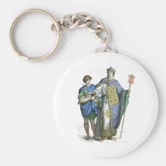 Emperador bizantino llavero redondo tipo pin