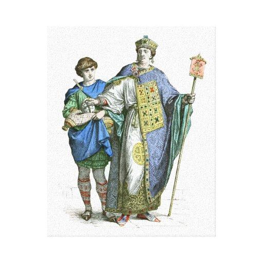Emperador bizantino lona estirada galerías