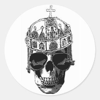 Emperador bizantino muerto con las gafas de sol pegatina redonda