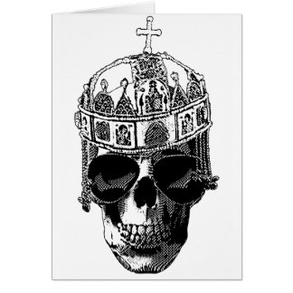 Emperador bizantino muerto con las gafas de sol tarjeta de felicitación