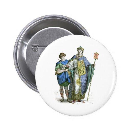 Emperador bizantino pin redondo de 2 pulgadas