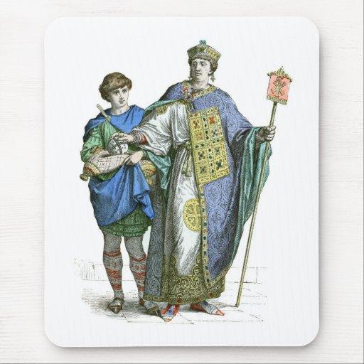 Emperador bizantino tapetes de ratones