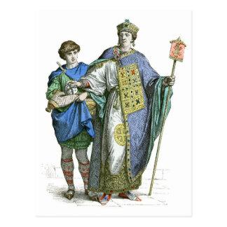 Emperador bizantino tarjetas postales