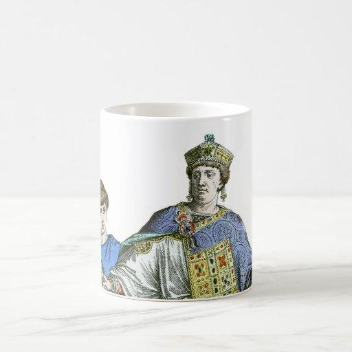 Emperador bizantino taza básica blanca