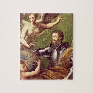 Emperador Charles V (1500-58) que recibe el mundo, Puzzle Con Fotos