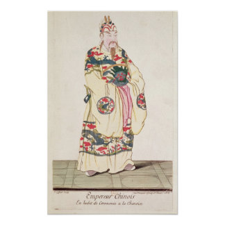Emperador chino en traje ceremonial impresiones