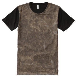 Emperador Claro Stone Pattern Background All-Over-Print T-Shirt