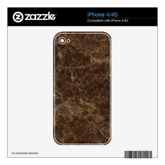 Emperador Claro Stone Pattern Background Skin For iPhone 4S