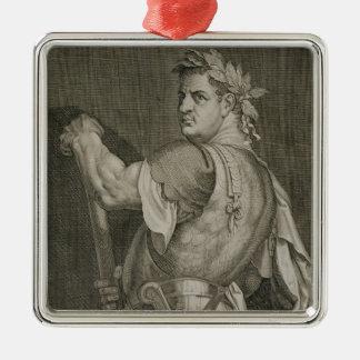 Emperador de D. Titus Vespasian del engrav del Adorno Navideño Cuadrado De Metal