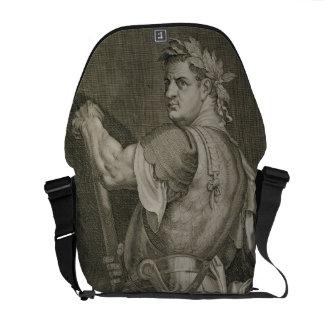 Emperador de D. Titus Vespasian del engrav del ANU Bolsas De Mensajeria