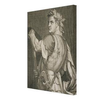 Emperador de D. Titus Vespasian del engrav del ANU Lienzo Envuelto Para Galerías