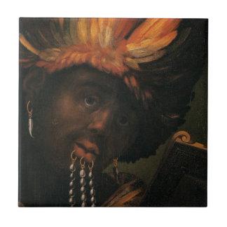 Emperador de Etiopía Azulejo Cuadrado Pequeño